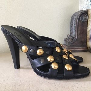 GUCCI STUDDED HEELED SANDALS
